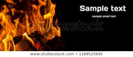 yanan · taş · çakıl · Alevler · karanlık - stok fotoğraf © carenas1