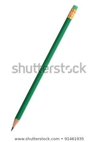 Groene potlood witte geïsoleerd tool trekken Stockfoto © ajt