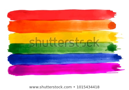 rainbow colored vectorized ink sketch of a banner illustration stock photo © cidepix