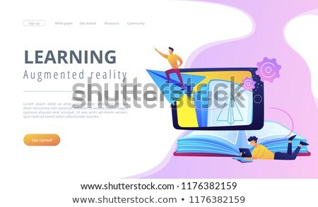 Augmented reality in education app interface template. Stock photo © RAStudio
