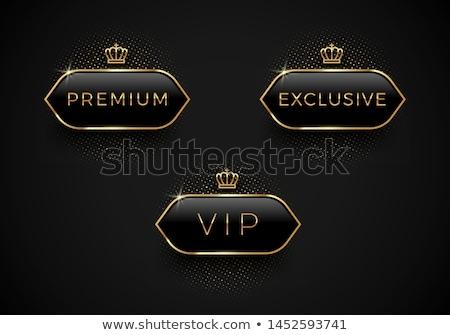 premium golden shiny buttons set Foto d'archivio © SArts