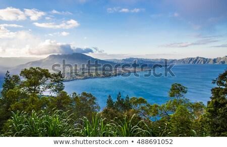 Lago bali Indonésia dente hills céu Foto stock © galitskaya