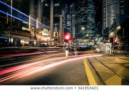 Homály fény éjszaka kilátás Hongkong város Stock fotó © galitskaya
