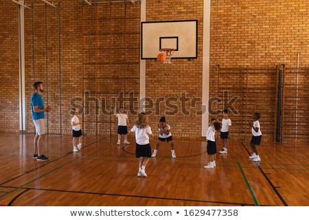 Basketbol koç öğretim basketbol sahası okul Stok fotoğraf © wavebreak_media