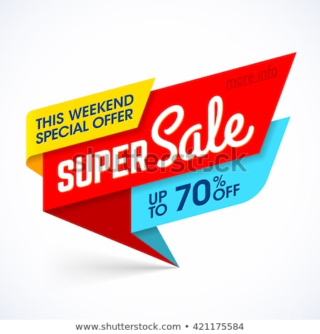 Satış süper fiyat azalma afiş vektör Stok fotoğraf © robuart