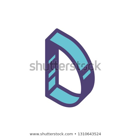 Linear geometric outline alphabet Letter G, Simple Logo Design, Blue graphic element for typography  Stock photo © kyryloff