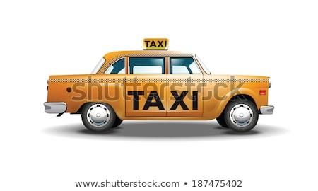 Realista edad taxi coche retro taxi Foto stock © YuriSchmidt