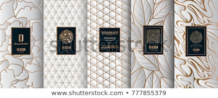Luxury ornate label in gold - vector design Stock photo © blue-pen