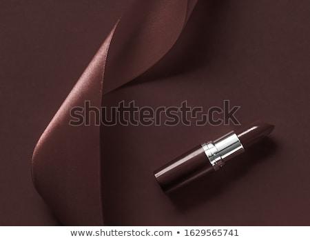 Lüks ruj ipek şerit çikolata tatil Stok fotoğraf © Anneleven