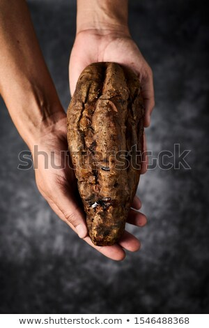 Man zoete aardappel handen Stockfoto © nito