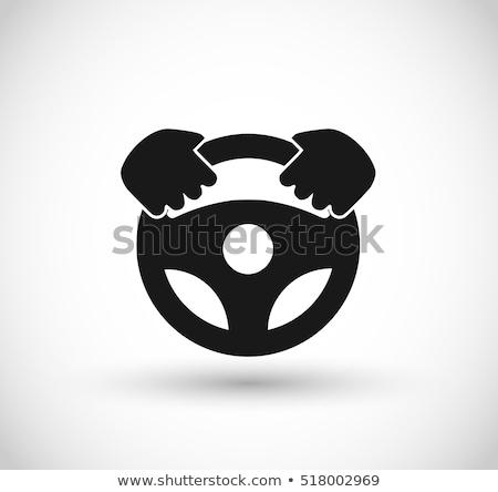 Motorista caminhão ícone vetor ilustração Foto stock © pikepicture