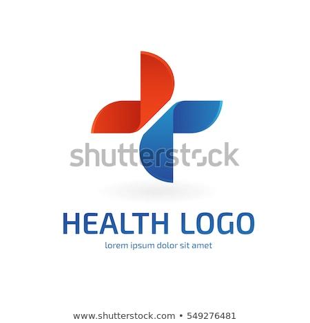 Logotipo médico atravessar médico batida de coração vetor Foto stock © robuart