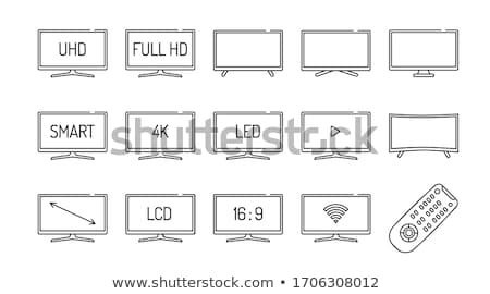 UHD smart TV concept vector illustration. Stock photo © RAStudio