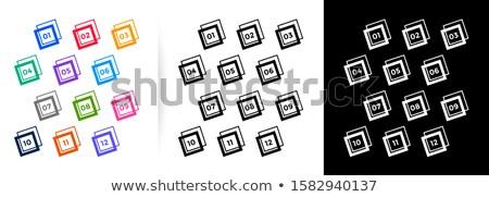 Moderno bala pontos grande conjunto Foto stock © SArts