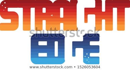 прямой край цвета красочный логотип Сток-фото © vector1st