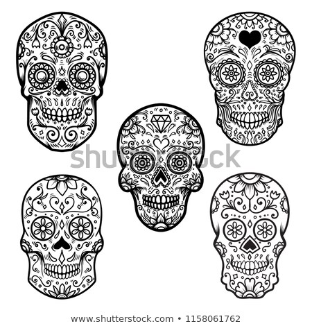 Day of the dead colorful sugar skull banner Stock photo © cienpies