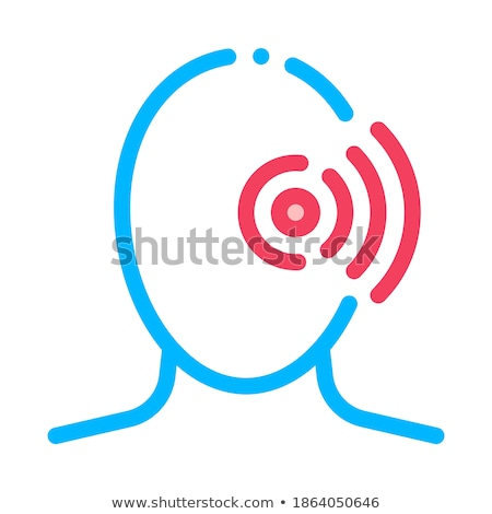 Pin Eye Pain Silhouette Cluster Headache Vector Stock photo © pikepicture