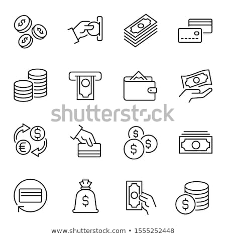 Communie cash bankbiljetten icon vector schets Stockfoto © pikepicture