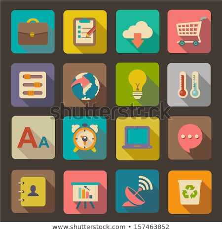 Ecommerce Globe and Shopping Icons Collection Stock photo © robuart