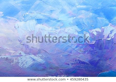Artístico abstrato textura laranja acrílico paint brush Foto stock © Anneleven