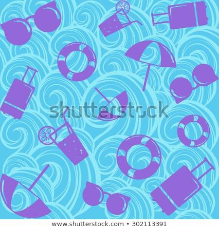 Summer vacation holiday icons seamless background Stock photo © ShustrikS