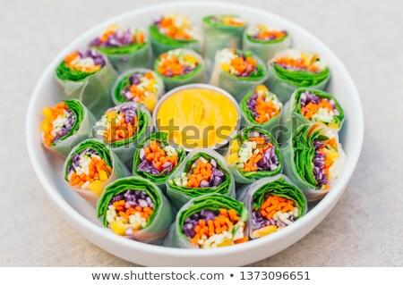 Vegan gıda lezzetli yeşil bahar Stok fotoğraf © vkstudio