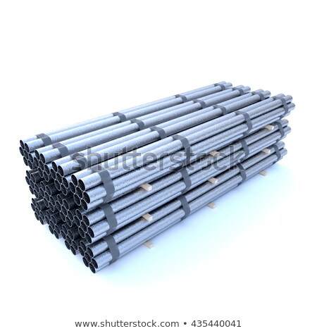 Steel pipe rolling bundle - tube rolling manufacturer industrial Stock photo © gomixer