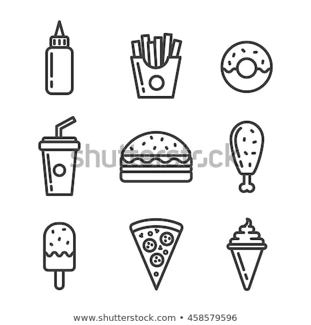 french fries icon vector outline illustration Stock photo © pikepicture