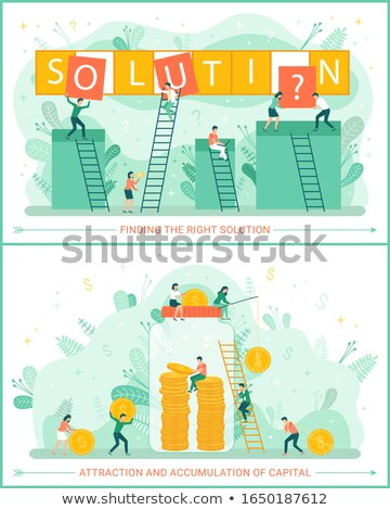 Solution Teamwork of Team, Accumulation of Wealth Stock photo © robuart
