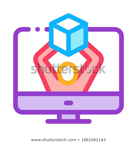 computer receipt of parcel icon vector outline illustration Stock photo © pikepicture