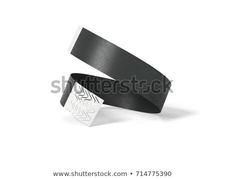 Blanco papier evenement armband 3d illustration geïsoleerd witte Stockfoto © montego