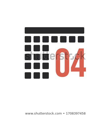 Month 4 april Calendar organizer icon. Stock Vector illustration isolated on white background. Stock photo © kyryloff