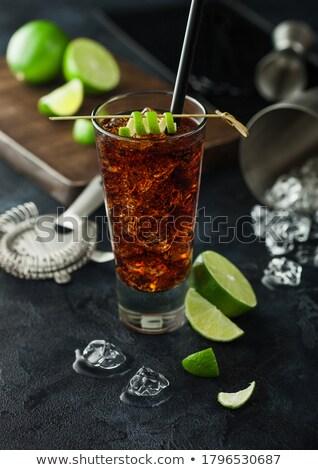 Куба коктейль стекла льда извести Сток-фото © DenisMArt