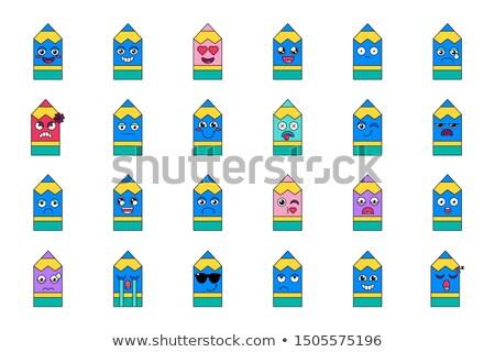 Sleeping pencil emoticon Stock photo © barsrsind