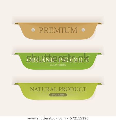 retro colored labels badges and stickers stock photo © orson