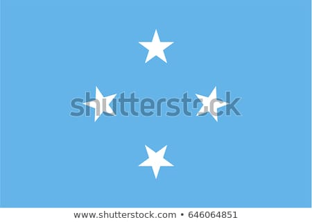 Federated States Micronesia flag, vector illustration on a white background Stock photo © butenkow