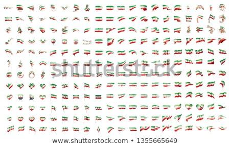 Groot collectie vector vlaggen Iran reizen Stockfoto © butenkow