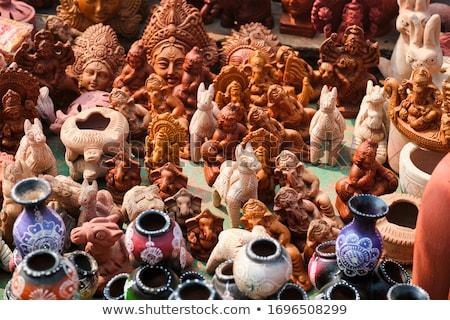 улице рынке выставка ручной работы керамической продукции Сток-фото © dmitry_rukhlenko