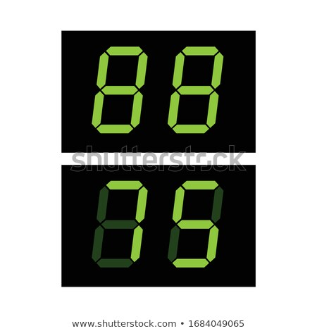 Digital screen template with green digits 88 ready te edit. digital clock or counter. Stock Vector i Stock photo © kyryloff