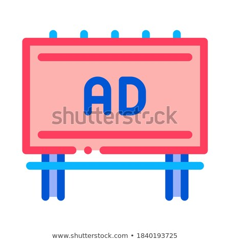 mounted overhead billboard icon vector outline illustration Stock photo © pikepicture