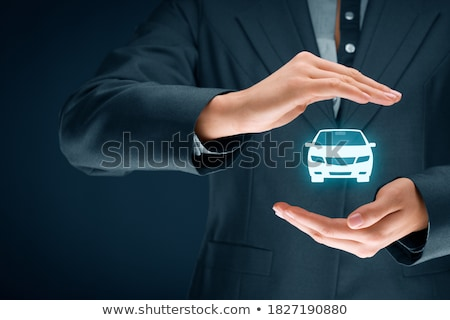 Car insurance and collision damage waiver concepts. Businesswoma Stock photo © snowing