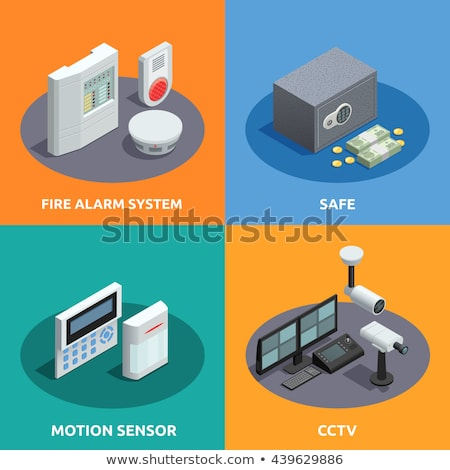 Fire alarm system abstract concept vector illustration. Stock photo © RAStudio