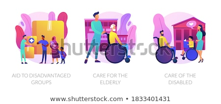 Aid to disadvantaged groups abstract concept vector illustration. Stock photo © RAStudio