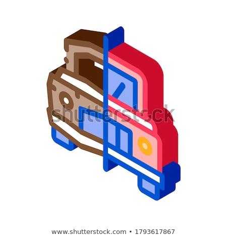 Fijado icono vector signo color Foto stock © pikepicture