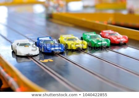 Sleuf auto afbeelding speelgoed auto racing Stockfoto © kitch