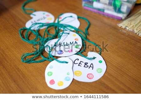 Pass, Colorful words hang on rope stock photo © Ansonstock