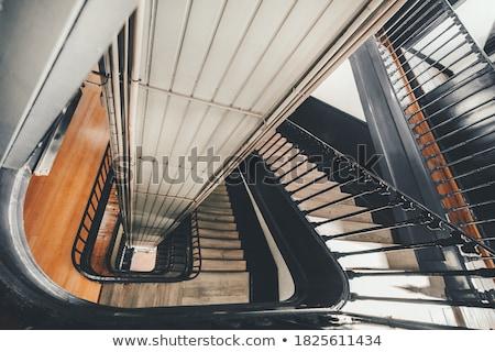 Antique cage d'escalier intérieur jaune mur bâtiment Photo stock © Vividrange