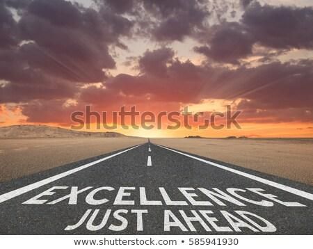 waarheid · groene · verkeersbord · dramatisch · hemel · wolken - stockfoto © kbuntu