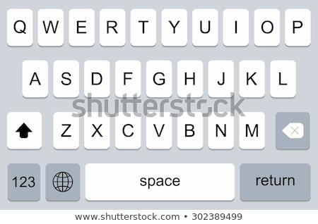 Telefoon toetsenbord mobiele telefoon knop brieven Stockfoto © fxegs