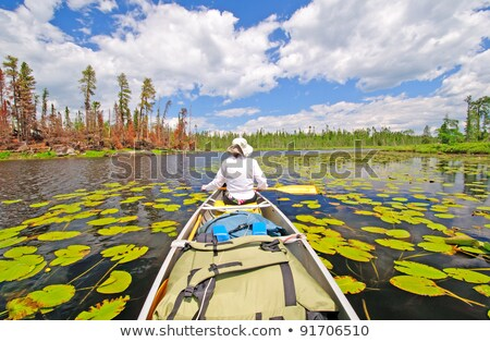 Canoe in camp in the Boundary Waters Stock photo © wildnerdpix